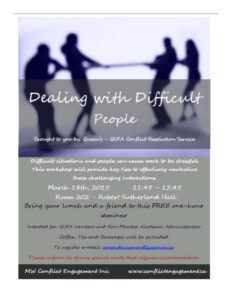 Dealing with Difficult People Poster