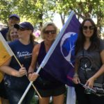 Labour Day in the Park 2016 - President Lynne Hanson with ladies from USW