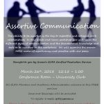 Assertive Communication Flyer - March 2018
